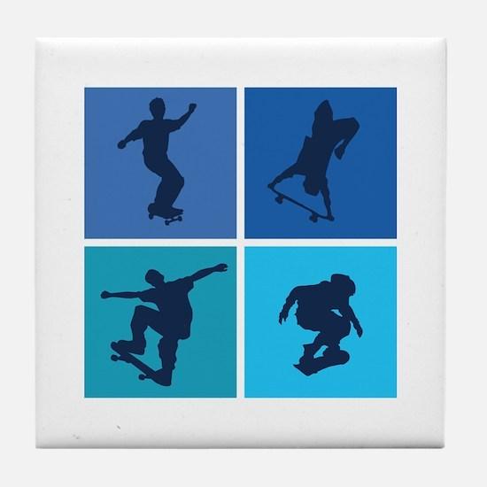 Nice various skating Tile Coaster