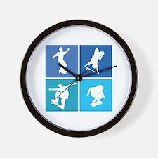 Nice various skating Wall Clock