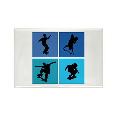 Nice various skating Rectangle Magnet (10 pack)