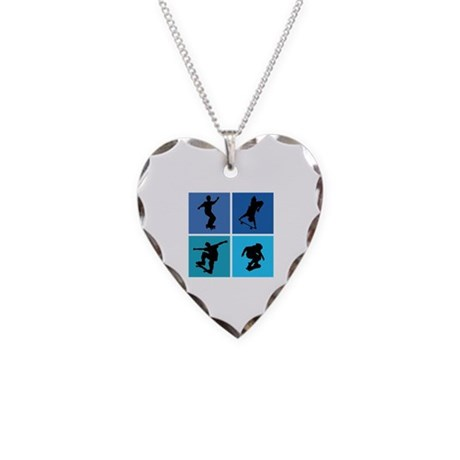 Nice various skating Necklace Heart Charm