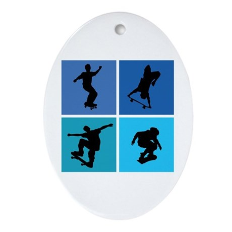 Nice various skating Ornament (Oval)