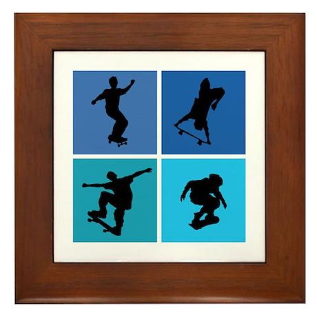Nice various skating Framed Tile