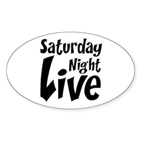 Saturday Night Live SNL Sticker (Oval 50 pk)