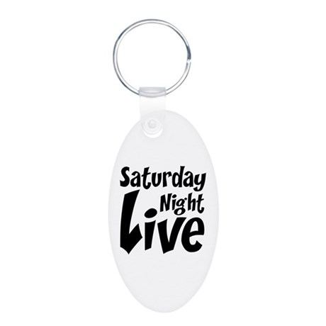 Saturday Night Live SNL Aluminum Oval Keychain