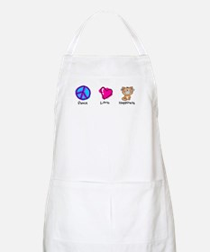 Peace Love and Cats BBQ Apron