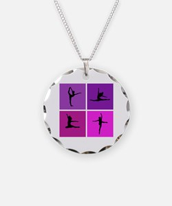 Nice various dancing Necklace Circle Charm