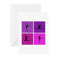 Nice various dancing Greeting Cards (Pk of 10)