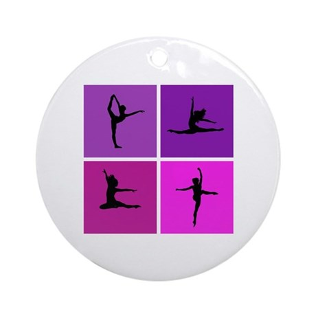 Nice various dancing Ornament (Round)