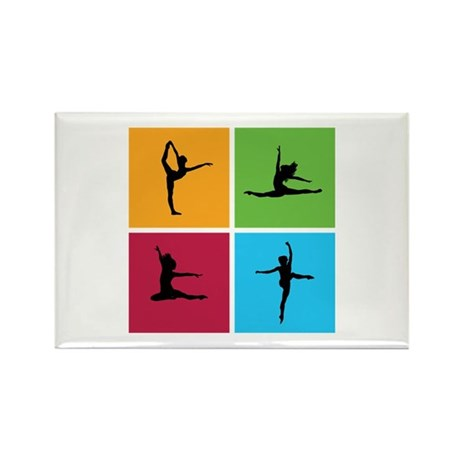 Nice various dancing Rectangle Magnet