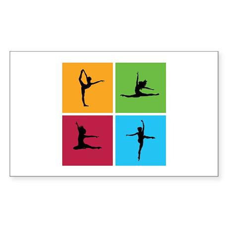 Nice various dancing Sticker (Rectangle)