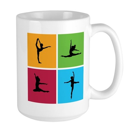 Nice various dancing Large Mug