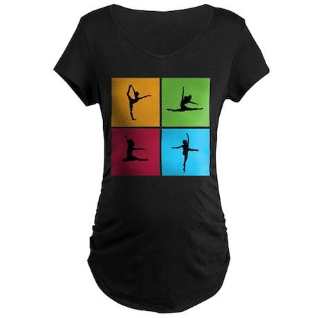 Nice various dancing Maternity Dark T-Shirt