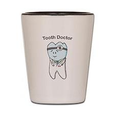 Cute Dental hygiene student Shot Glass