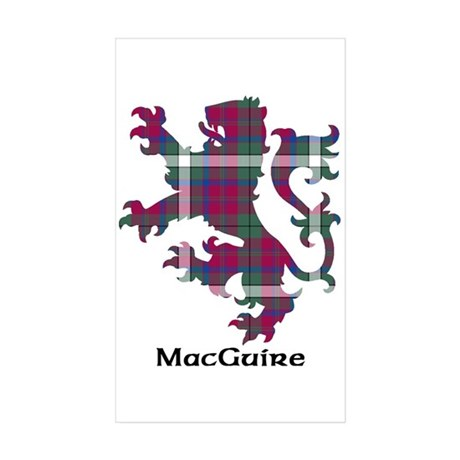 Lion - MacGuire Sticker (Rectangle 10 pk)