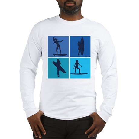 various surfing girls Long Sleeve T-Shirt