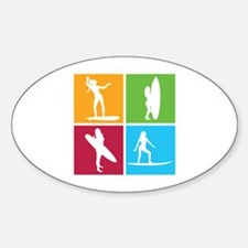 various surfing girls Decal