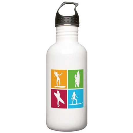 various surfing girls Stainless Water Bottle 1.0L