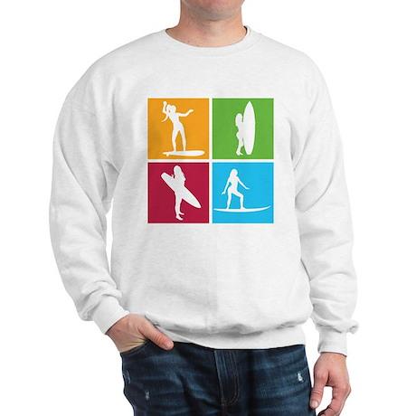 various surfing girls Sweatshirt