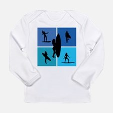 various surfing girls Long Sleeve Infant T-Shirt