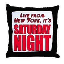 Live From New York It's Saturday Night Throw Pillo