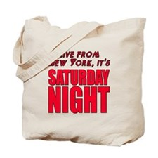 Live From New York It's Saturday Night Tote Bag