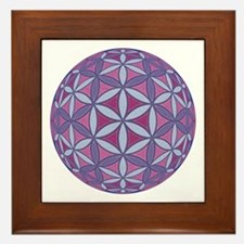 Flower of Life Sphere Framed Tile