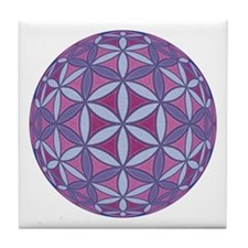 Flower of Life Sphere Tile Coaster