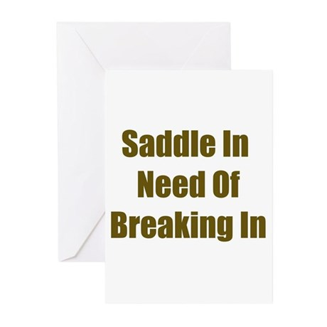 Saddle in Need of Breaking In Greeting Cards (Pack