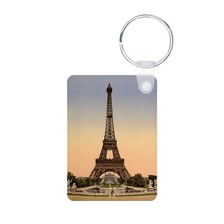 Parisian Sunset Aluminum Photo Keychain