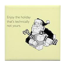 Enjoy the Holiday Tile Coaster
