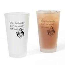 Enjoy the Holiday Drinking Glass
