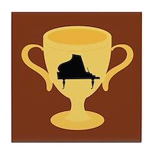 Piano Trophy Award Tile Coaster