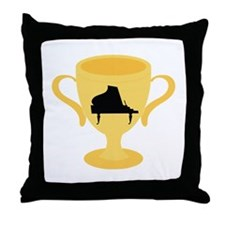 Piano Trophy Award Throw Pillow