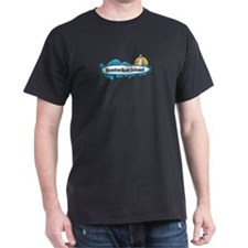 Nantucket MA - Surf Design. T-Shirt