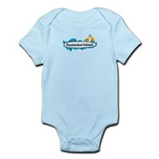 Nantucket MA - Surf Design. Infant Bodysuit