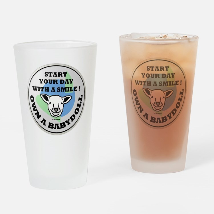 Cute Babydoll southdown Drinking Glass