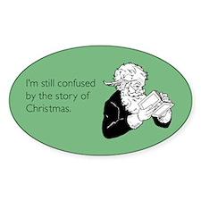 Story of Christmas Sticker (Oval)