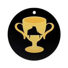 Piano Trophy Award Ornament (Round)
