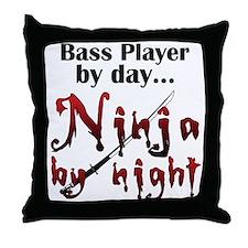 String Bass Ninja Throw Pillow