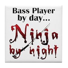 String Bass Ninja Tile Coaster