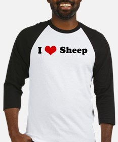 I Love Sheep Baseball Jersey