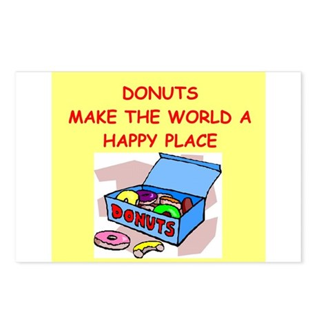 donuts gifts t-shirts Postcards (Package of 8)