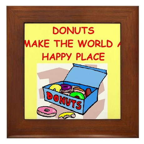 donuts gifts t-shirts Framed Tile