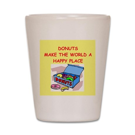 donuts gifts t-shirts Shot Glass