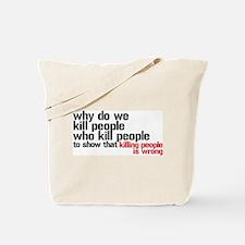 Killing People Is Wrong Tote Bag