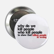 """Killing People Is Wrong 2.25"""" Button"""