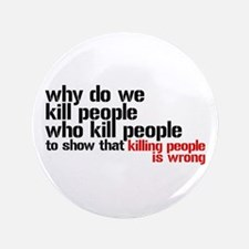 """Killing People Is Wrong 3.5"""" Button"""
