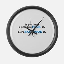 Face ur Problems Large Wall Clock