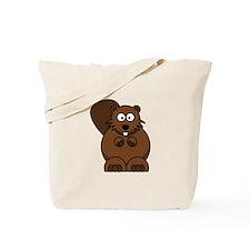 Cartoon Beaver Tote Bag