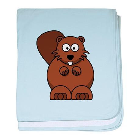 Cartoon Beaver baby blanket